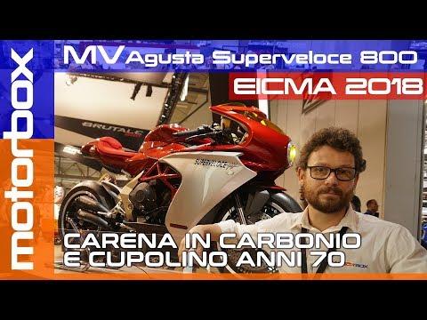 MV Agusta Superveloce 800 a Eicma 2018 | Carena in carbonio e cupolino anni 70
