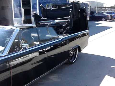1964 Black Lincoln Continental ...Drop the top! - YouTube