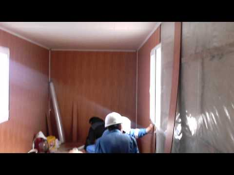 видео: Как быстро и правильно обшить контейнер жилье офис  7