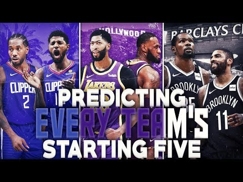 Predicting Every Team's Starting Lineup For 2020 NBA Season