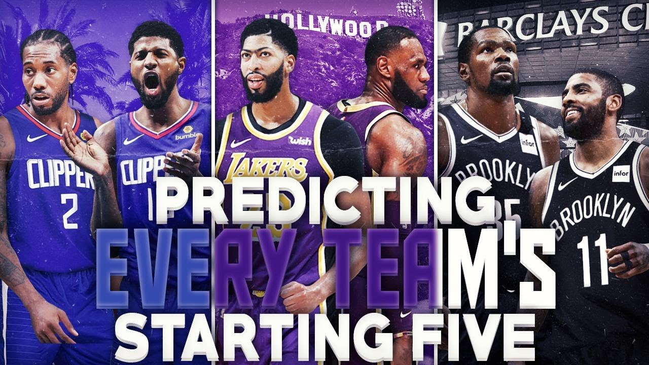Predicting Every Team S Starting Lineup For 2020 Nba Season