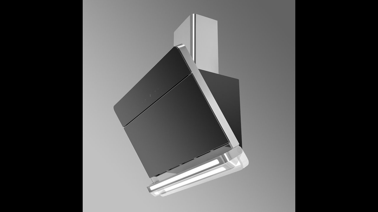 Pluto Angled Kitchen Extractor