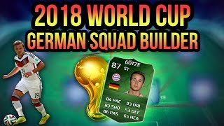2018 WORLD CUP GERMANY SQUAD BUILDER | FIFA 14 ULTIMATE TEAM