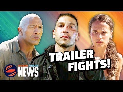 Trailer Fights: Tomb Raider vs Jumanji vs The Punisher! (Trailer Reactions)