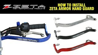 "ZETA ARMOR HANDGUARDS BEND TITANIUM 7//8/"" ZE72-0003"