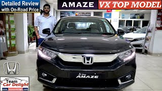 Honda Amaze VX Detailed Review with On Road Price,Features,Interior | Amaze VX Top Model 2019