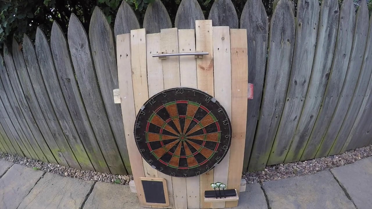 How To Make A Dart Board Holder Using A Pallet Upcycle