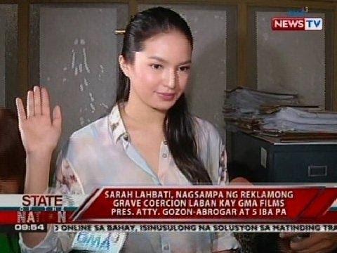 Sarah Lahbati, nagsampa ng reklamong grave coercion vs. Atty. Gozon-Abrogar at 5 iba pa
