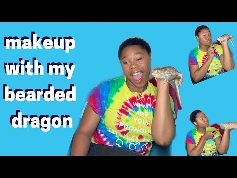 doing makeup with my bearded dragon | jackie aina inspired thumbnail