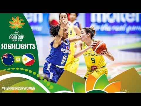 Australia v Philippines | Highlights | FIBA Women's Asia Cup 2019