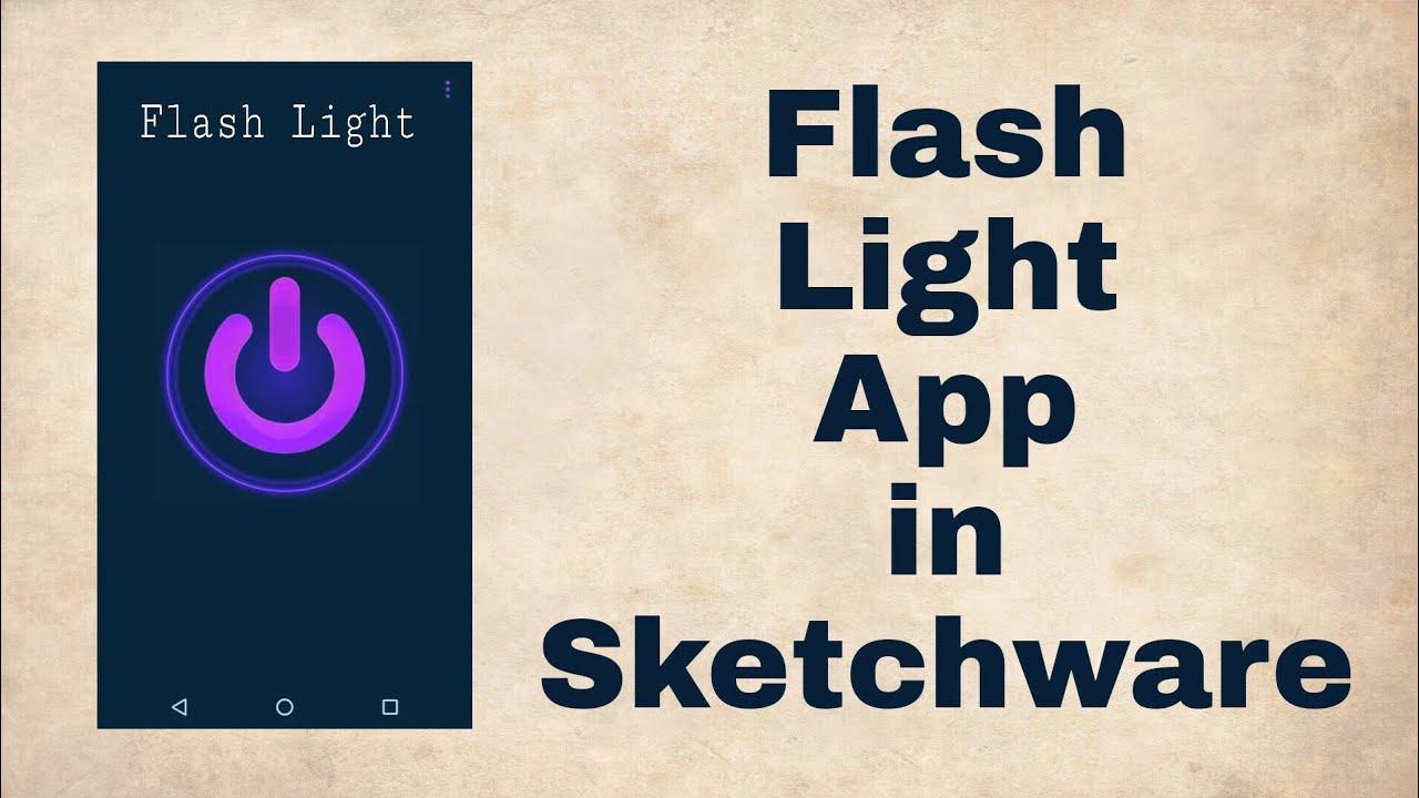 A Flash Light App in Sketchware