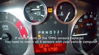 How to Reset Tire Pressure Monitoring Sensors on Hummer, Chevrolet Colorado, GMC Canyon - TPMS
