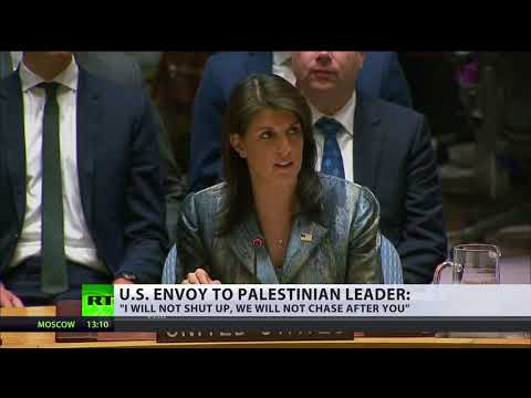 'I will not shut up, we will not chase after you' - US envoy to Palestinian leader at UNSC