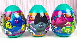 UNBOXING MEGA CANDY PLANET DREAMWORKS TROLLS SURPRISE EGG WITH POPPY BRANCH CYBIL GUY DIAMOND & MORE