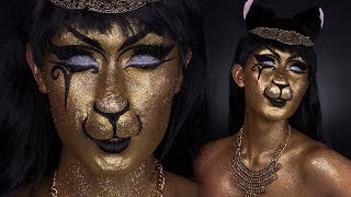 BASTET CAT GODDESS MAKEUP TUTORIAL | ONLINEKYNE HALLOWEEN 2017