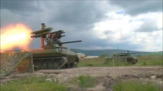 РУССКИЙ РОБОТ ''УРАН 9'' В СИРИИ  ПРОВЕРКА БОЕМ ! боевые роботы россии в сирии оружие война сирия бо