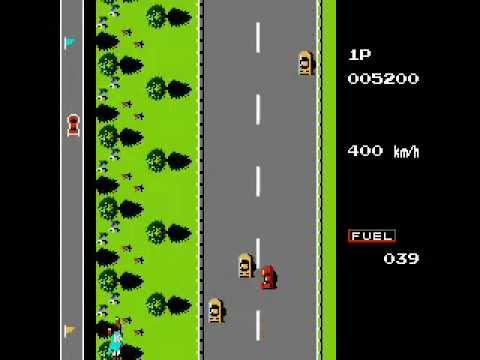 Road Fighter Nes Family Game Completado Youtube