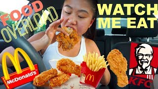 FAST FOOD MUKBANG! CRISPY CHICKEN // Watch Me Eat | THERESATRENDS