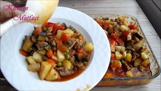 Fırında kolay etli sebze kebabı tarifi - Etli sebze kebabı nasıl yapılır - Yemek tarifleri