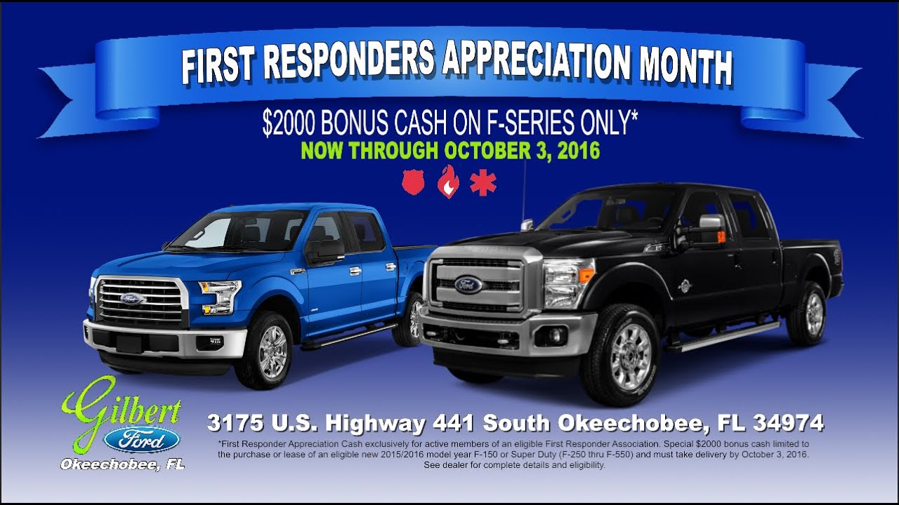 Ford First Responder >> Gilbert Ford First Responder Incentive South Florida Okeechobee