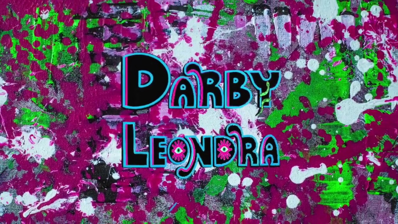 Darby Leondra paints Dual; Angel + Devil