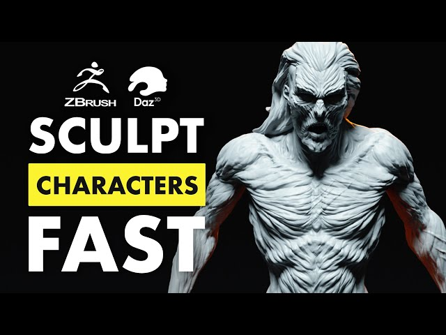 The Fastest Way to Sculpt Characters in 3D