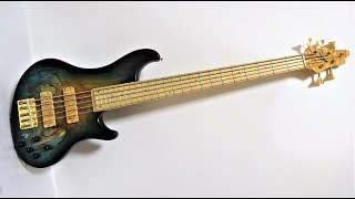 High End Basses: Bossa OB5 Spalted Pistaccio Bass Demo.