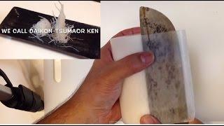 桂剥きの剥き方~大根つまの作り方~寿司屋の板長が教えるSTEP1桂剥きの剥き方、作り方 thumbnail