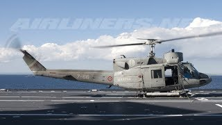 3d# Gunship helicopter Ab212 awsome take off from destroyer