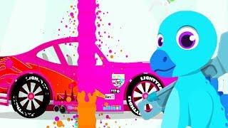 Dinosaur Rescue Cars - Baby Play Fun Car Repair - Drive Dino Trucks Game For Kids