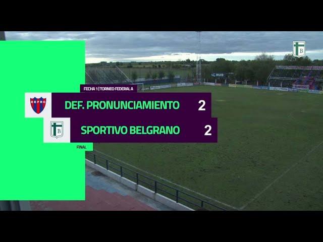 Depro [2-2] Sportivo Belgrano. Federal A. Fecha 1. 11/4/2021