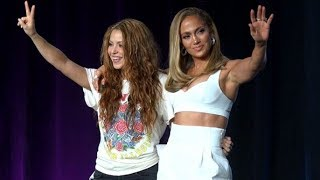 Super Bowl LIV halftime performer press conference with Jennifer Lopez and Shakira