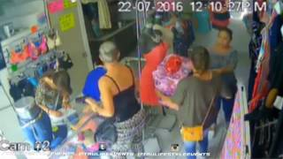 Three Women Steals $500 Worth of Clothing Right in front of the Store Clerk