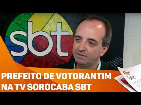 Prefeito de Votorantim na TV Sorocaba SBT - TV SOROCABA/SBT
