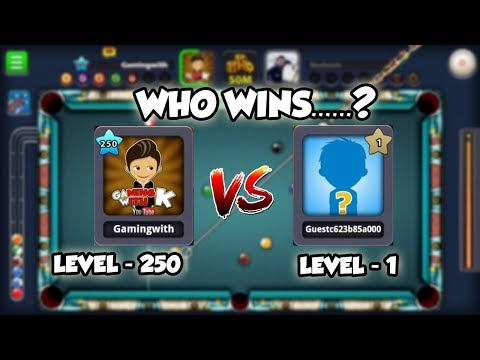 Level 1 vs Level 250 in 8 ball pool - Epic Game - Indirect Shots in Berlin