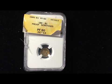 NGC PCGS ANACS Crack Out Challenge 1881 Proof Gold Dollar Coin Grade Reveal