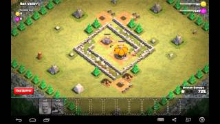 Rat Valley - Town Hall Level 2 - 16 Barbarians, 1 Goblin - Simple Clash of Clans