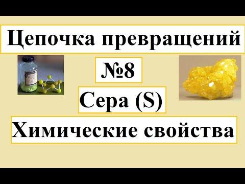 Цепочки превращений по неорганической химии. Вариант №8. Свойства серы.