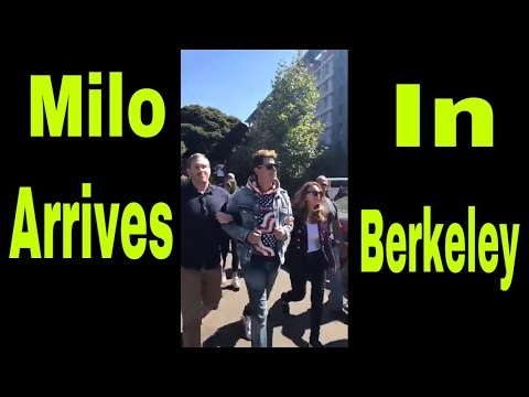 Milo Yiannopoulos ! Arrives in Berkeley! All hell breaks loo