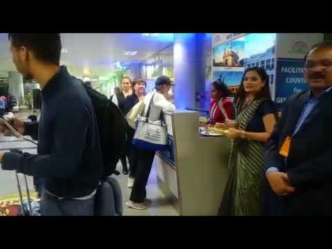 Global Entrepreneurship Summit Delegation At Rajiv Gandhi Hyderabad International Airport