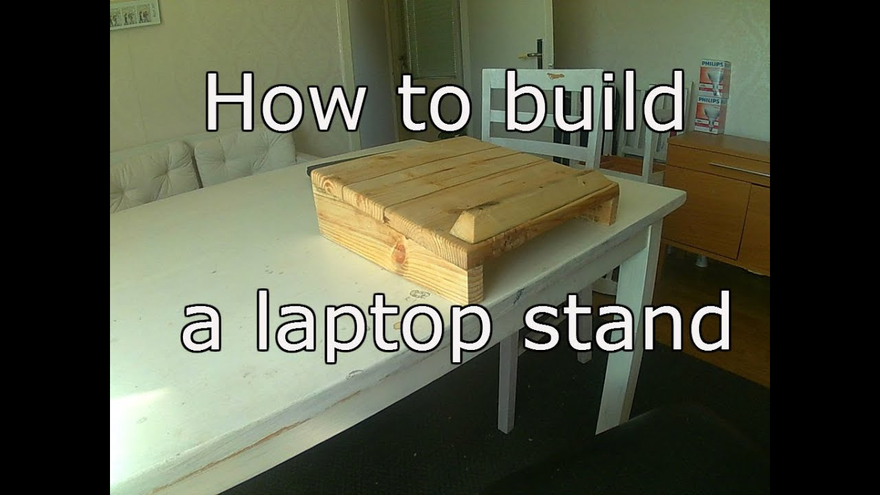 How To Build A Laptop Stand From Old Pallet Wood Youtube