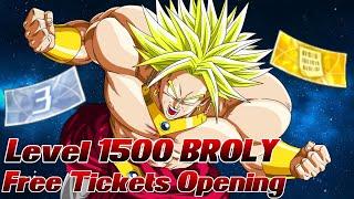 Level 1500 BROLY - 4x Sparking Tickets Opening! ;D | Dragon Ball Legends Deutsch