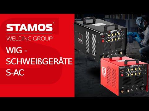 WIG-Schweißgeräte S-AC von Stamos Germany - in Basic oder Pro-Ausführung - 200 A Schweißleistung