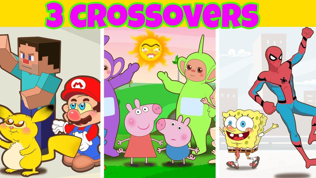 Mongo e Drongo em 3 episódios de Crossovers - Desenho animado c/ Mario, Sonic, Bob Esponja e Pikachu