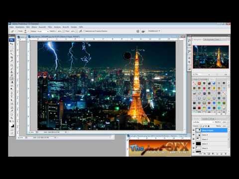 Photoshop Tutorial German/Deutsch - Blitz erstellen - Lightning