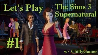 Let's Play : The Sims 3 - Supernatural (Part 1) - Creating The Supernaturals And Moving In