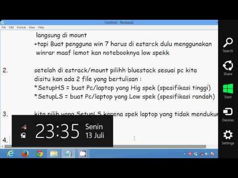 Tutorial Instal Bluestack Pada Laptop Yang Spesifikasi Rendah