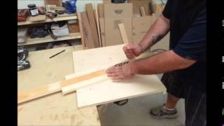 Machen Holz Trim und Molding Mit Einer Kreissäge