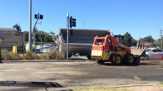 Truck crash rollover cleanup Sydney NSW - January 16, 2014