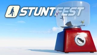 Stuntfest - Throwing Grandma in a Blender! - Ragdoll Physics Meets Wreckfest! Stunt Fest Gameplay